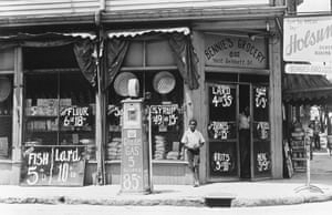A 1920s grocery store. Corner stores have been run by successions of immigrants.