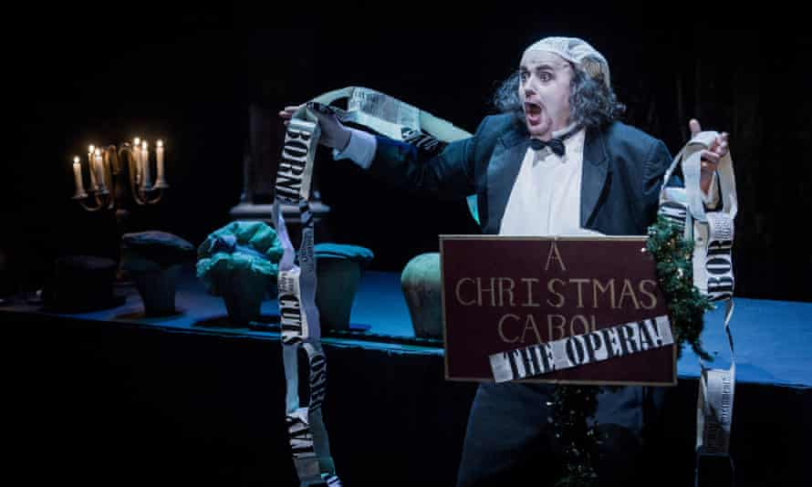 Mark le Brocq narrates and sings all the characters in A Christmas Carol.