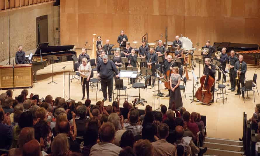 Audience applause following Knussen's concert with BCMG at 2017's Aldeburgh festival