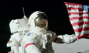 'We saw dazzling things' … Cernan on the moon during the Apollo 17 mission