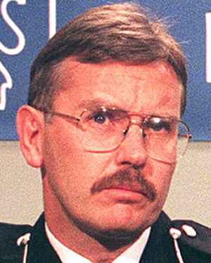 A 1997 photograph of former Northumbia police chief constable Mike Craik.