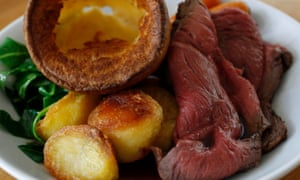 British Sunday roast meal