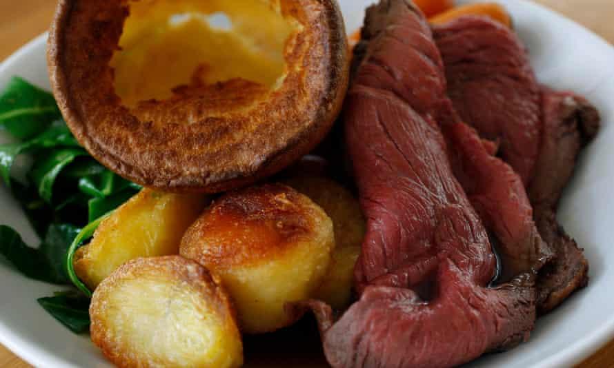 British Sunday roast meal
