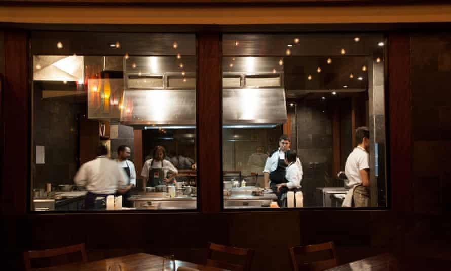 Leading Latin American chefs such as Brazil's Rafa Costa e Silva and Colombia's Eduardo Martinez cook a multi-course dinner at Gutsu restaurant in La Paz, Bolivia.