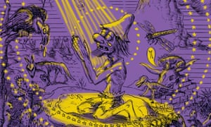 Detail from cover art for the graphic novel Songy of Paradise by Gary Panter.