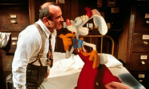 Bob Hoskins in Who Framed Roger Rabbit, 1988, for which Richard Williams won two Oscars.