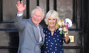 The Prince of Wales and Duchess of Cornwall in Salisbury