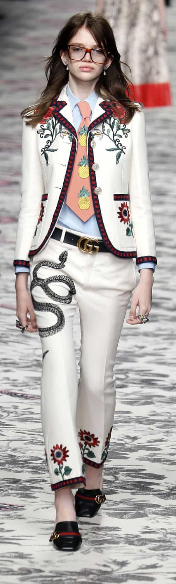 Gucci at Milan Fashion Week on Wednesday.