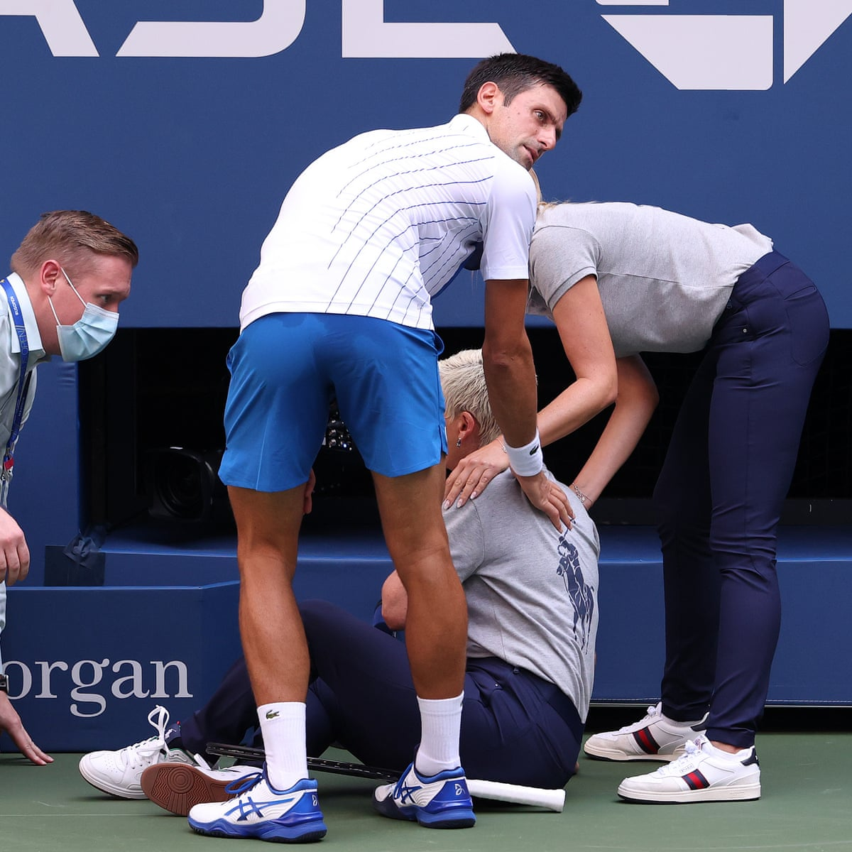 Us Open Novak Djokovic Defaulted From Tournament After Hitting Line Judge As It Happened Sport The Guardian