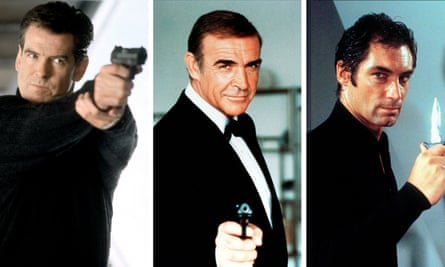 The best of all possible Bonds? … Pierce Brosnan (3rd), Sean Connery (1st), Timothy Dalton (2nd).