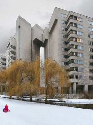 Club 100, an abandoned late-70s complex owned by the Russian embassy, in the Warsaw district of Mokotów