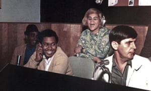 Rick Hall, right, in the studio with Etta James at Muscle Shoals, Alabama, 1967.