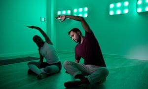 Rhik Samadder trying Spectrum colour yoga