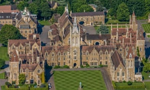Aerial view of Charterhouse School, Surrey