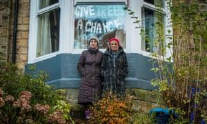 Protesters Jenny Hockey and Freda Brayshaw