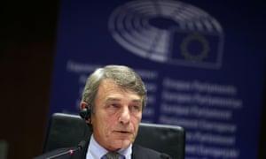 David Sassoli, the European parliament president.