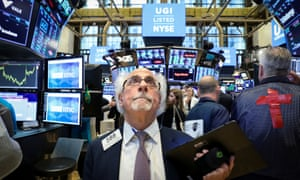 The floor at the New York Stock Exchange (NYSE) in New York today, as the S&P 500 index hits a new intraday high