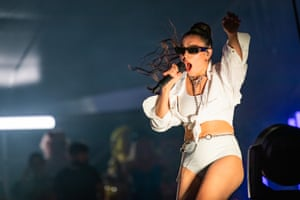 Charli XCX at the festival in Melbourne