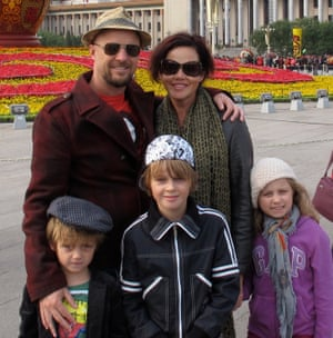 Anthony Maslin and Marite Norris with their children Otis, Mo and Evie, who were on board flight MH17 when it was shot down over Ukraine