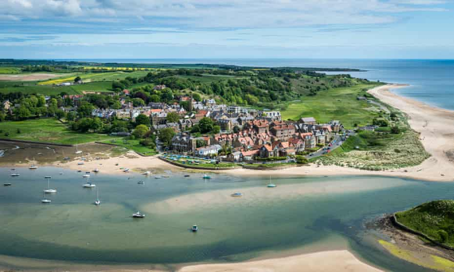 Alnmouth village and the Aln Estuary.
