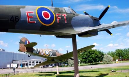 Historic aircraft at the Royal Air Force Museum in north London