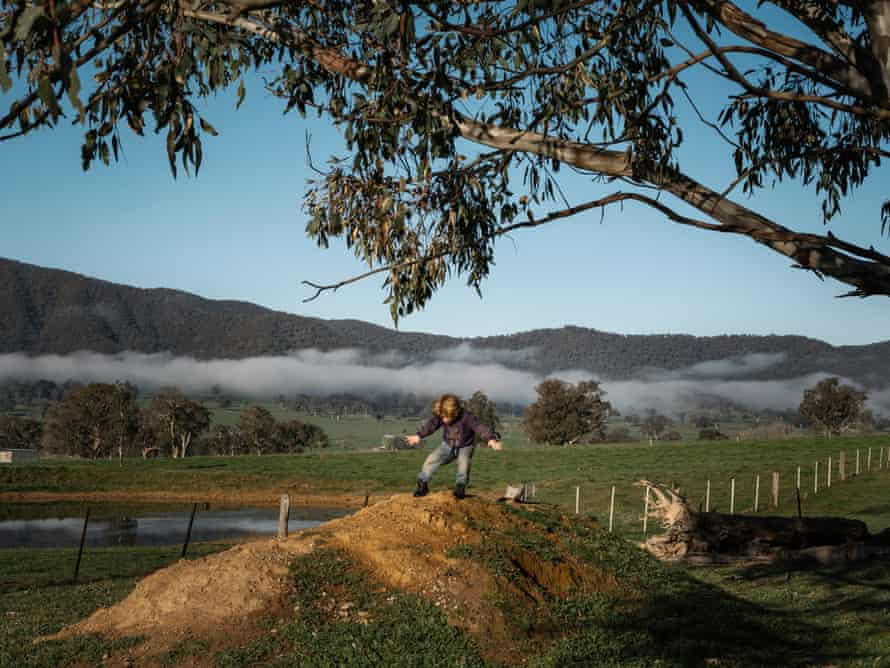 Tully Collings at a farm in Corryong.