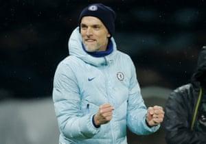 Thomas Tuchel celebrates the victory over Mourinho's Tottenham team.
