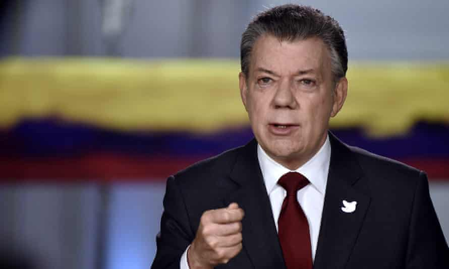 'We have to act,' President Juan Manuel Santos said of the new signing. 'We have no time to lose.'