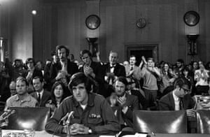 John Kerry testifies about the Vietnam war before the Senate foreign relations committee in 1971