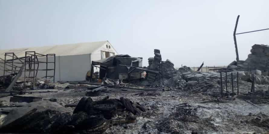 Buildings in Rann were burned to the ground during the Boko Haram attack