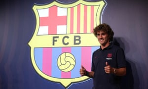Antoine Griezmann is unveiled as a Barcelona player after the La Liga champions paid his €120m release clause.