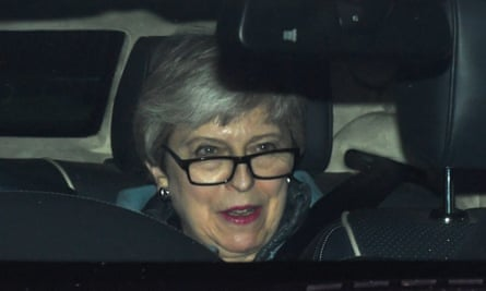 Theresa May arrives at the Houses of Parliament on 20 March