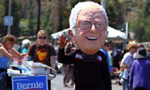 Sanders supporters in San Diego, California. 'My focus is on winning the largest state.'