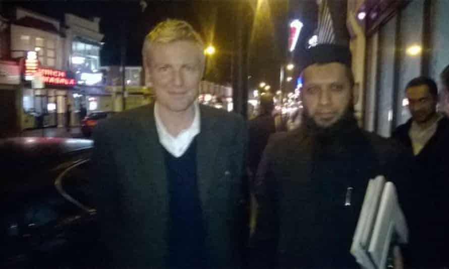 Zac Goldsmith with Gani – the cleric's links to the Tory party are making Cameron's comments seem more embarrassing.