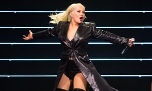 'Her persistent call for a feminist uprising is far from a schtick' ... Christina Aguilera.