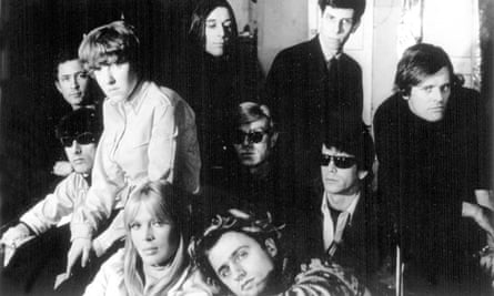 Andy Warhol, centre, with The Velvet Underground