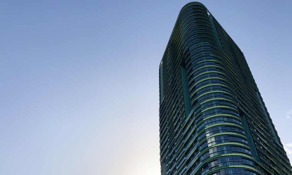 The Opal Tower is seen at Olympic Park in Sydney