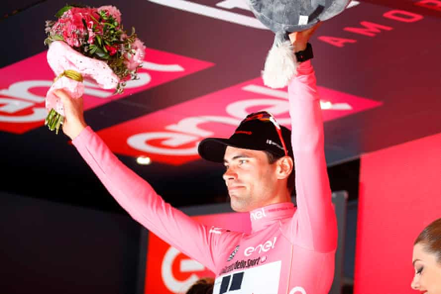 Another day in pink for Tom Dumoulin.