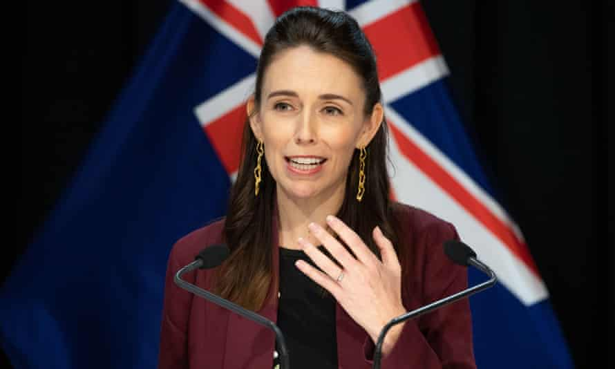 Jacinda Ardern speaks at a press conference on April 27, 2020, the final day of Alert Level 4, in Wellington, New Zealand. New Zealand will move from COVID-19 Alert Level 4 to Alert Level 3 at 11:59 p.m. local time on Monday, relaxing on some businesses. The country will stay in Alert Level 3 for two weeks before a further review and Alert Level decision on May 11. New Zealand Wellington Prime Minister Press Conference - 27 Apr 2020