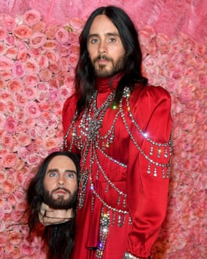 Two heads are better than one: Jared Leto at the 2019 Met Gala.