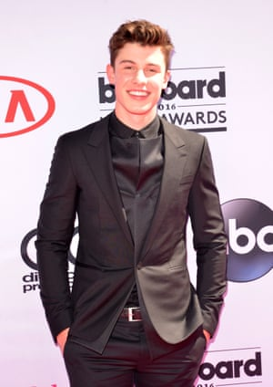 Shawn Mendes in his conceptual suit jacket.