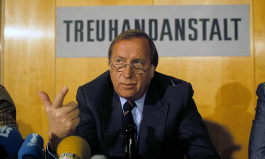 Detlev Karsten Rohwedder was in charge of the denationalisation of thousands of East German businesses after reunification.
