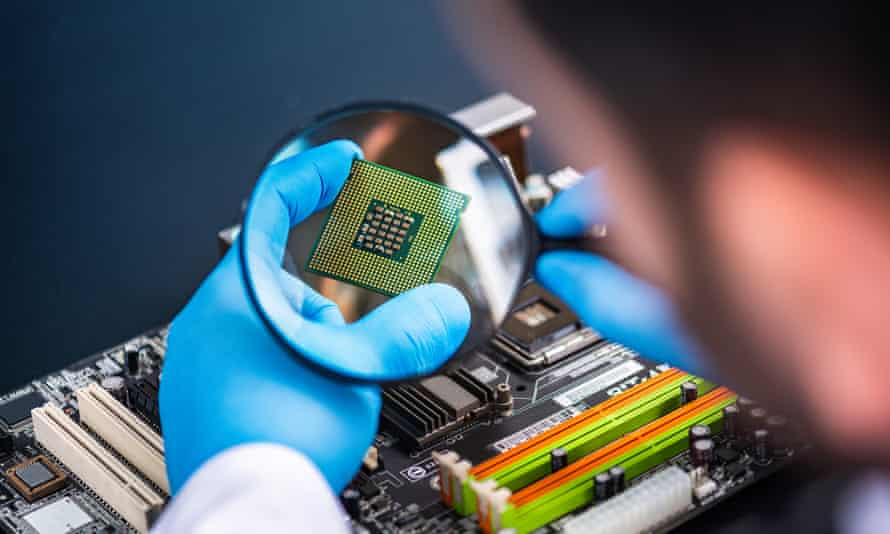 Some computer chip factories were forced to close when the pandemic struck