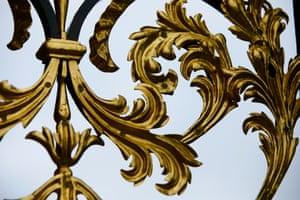 Detail of restored gilding work