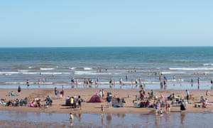 Dawlish Warren, a blue flag beach in south Devon, England. The money spent on avoiding pollution is thought to have contributed to a significant rise in people choosing to holiday at British beaches in 2016.