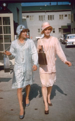 Jack Lemmon and Tony Curtis, costumed by Orry-Kelly in Some Like It Hot, 1959.