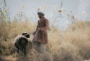 Shepherd in Samangan province,  Afghan Turkestan