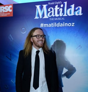 Tim Minchin, at the Lyric theatre for the Sydney premiere of Matilda the Musical