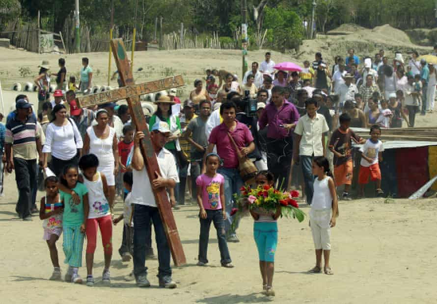 People commemorate the 10th anniversary of the massacre in El Salado