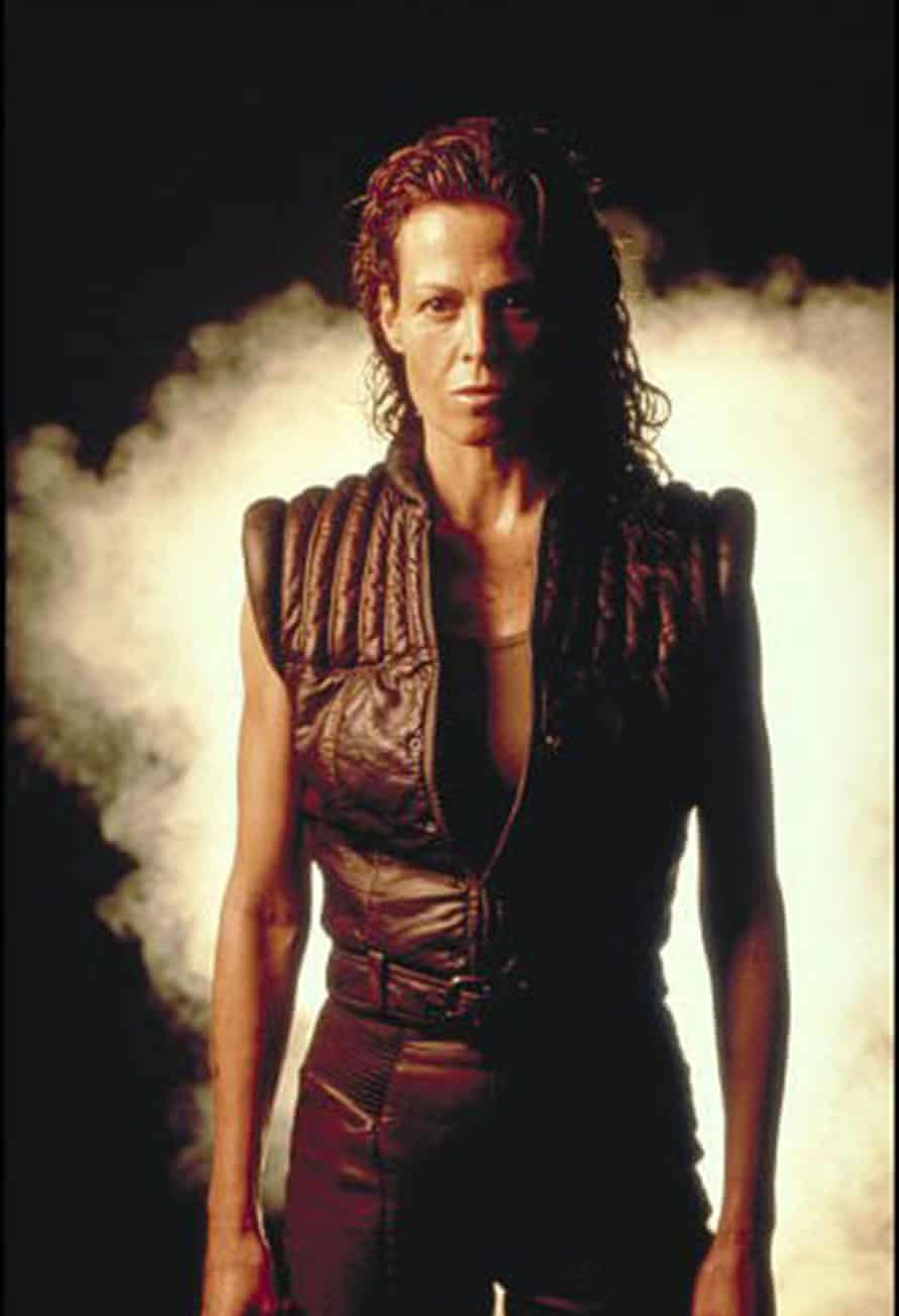 Actor Sigourney Weaver in the 1997 film Alien: Resurrection